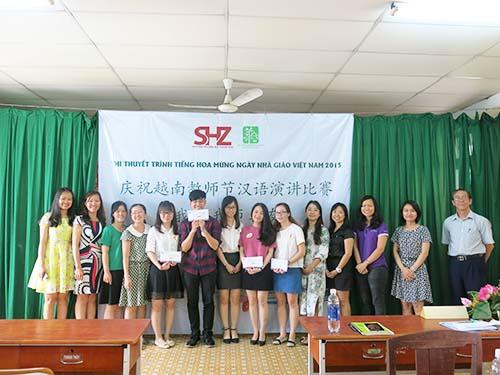 Học viên SHZ thi thuyết trình tiếng Hoa chào mừng ngày 20/11