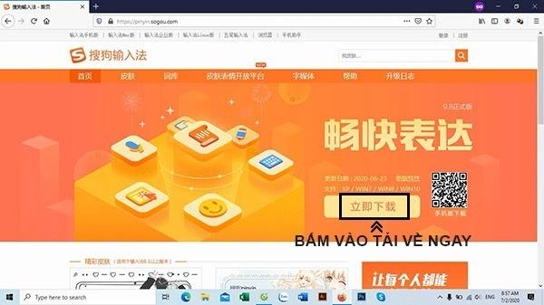 Tải phần mềm Sogou về máy tính laptop
