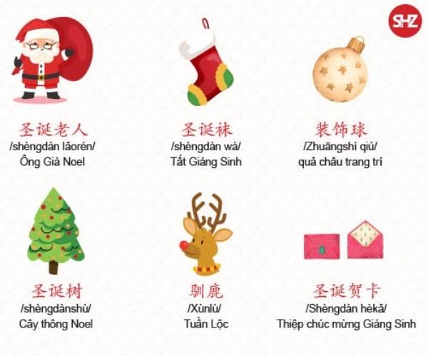 Tổng hợp từ vựng Tiếng Trung chủ đề Giáng Sinh